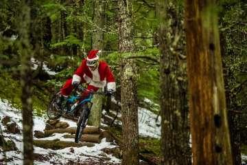 Papá Noel con MTB
