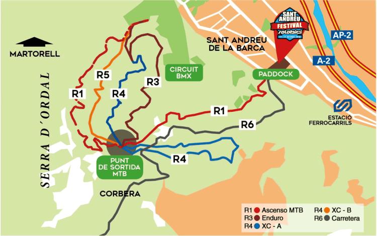 mapa-circuitos Sant Andreu Festival