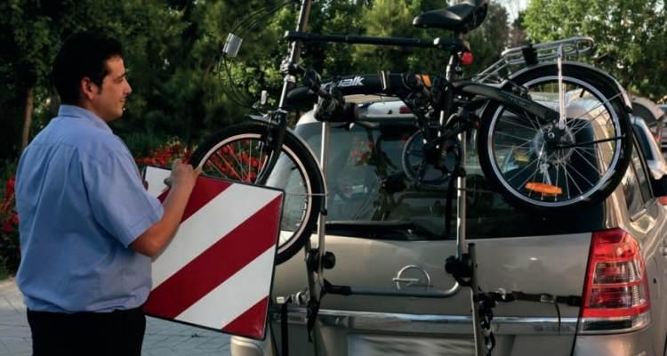 cargar bici coche señales