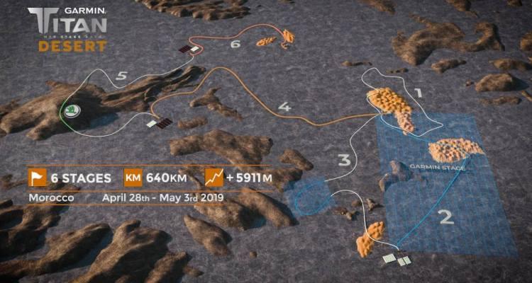 recorrido de la Titan Desert 2019