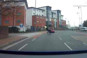caída bici policía vídeo