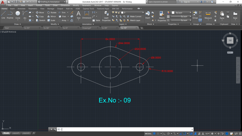 Practice Drawings for autocad