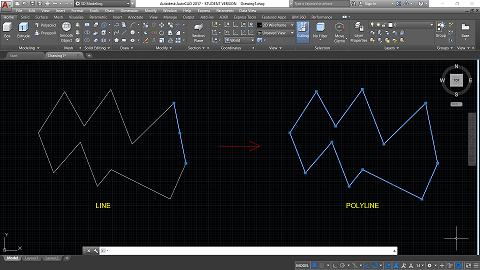 line to polyline