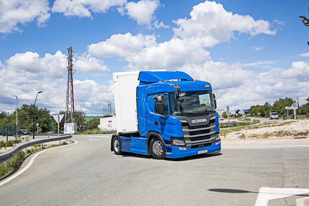 Scania G410, equilibrio en carretera