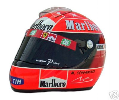 El casco del heptacampeon Michael Schumacher
