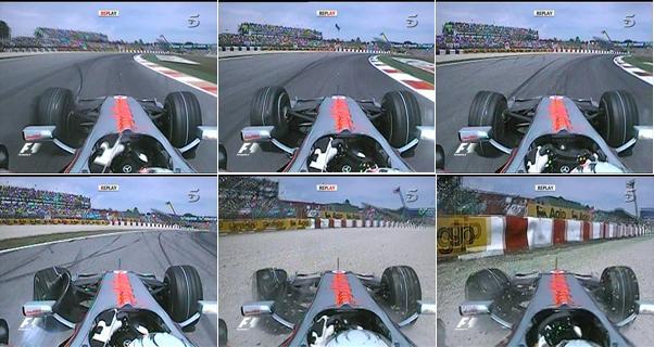 Secuencia del accidente de Kovalainen en Montmeló