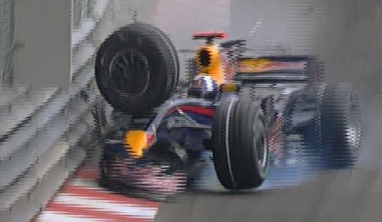 Accidente de Coulthard en Monaco