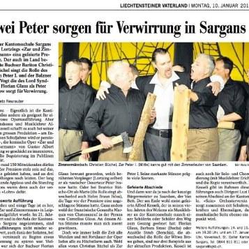 2011 Zar und Zimmermann SargansZar und Zimmermann Bericht Vaterland