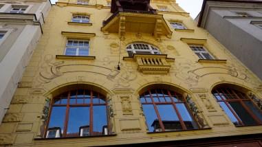 Building with art nouveau flourishes