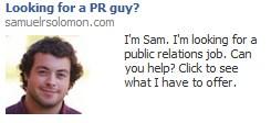Facebook Job Ad Example 1