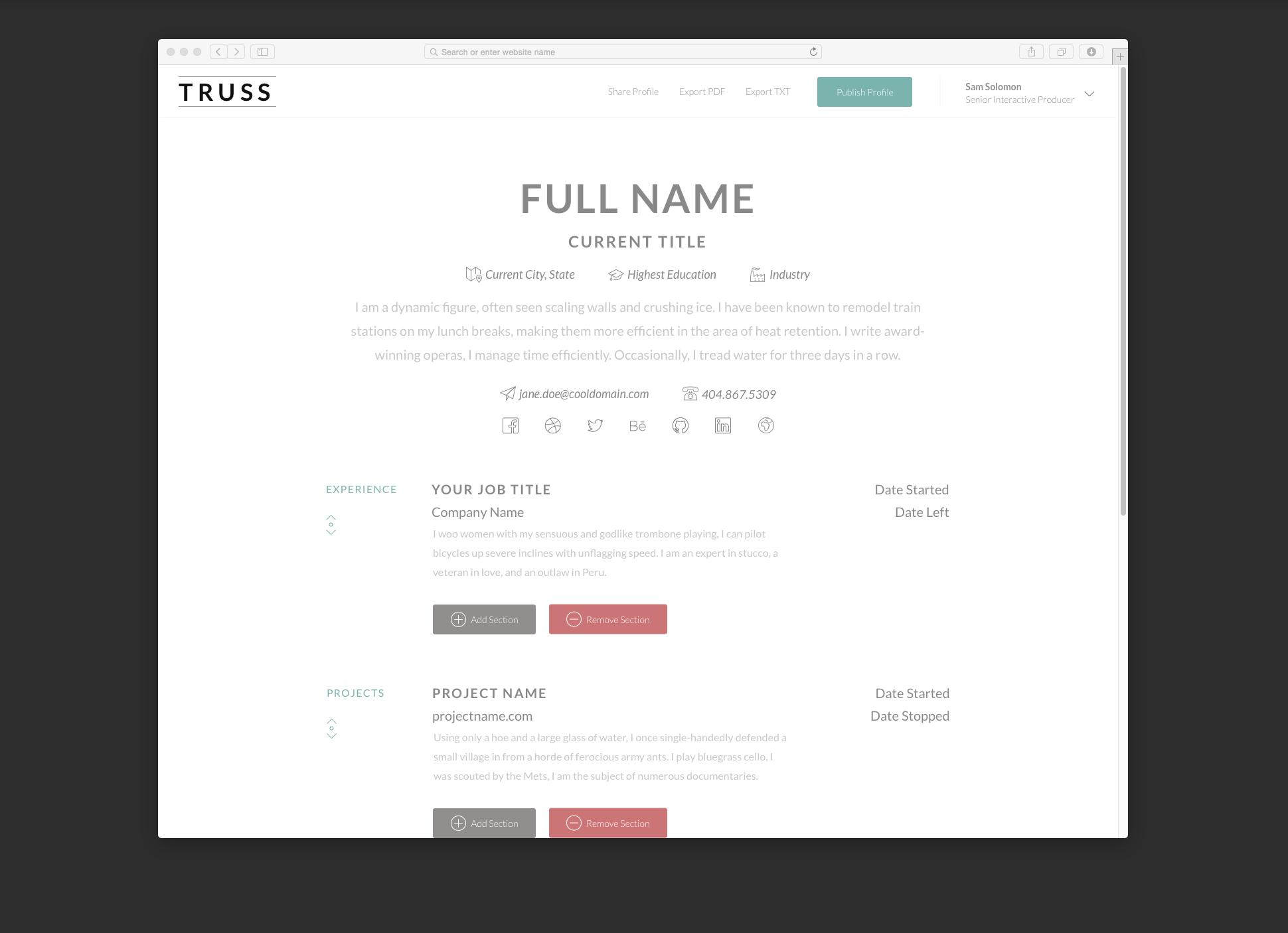 resume maker screenshot resume builder browser maker screenshot