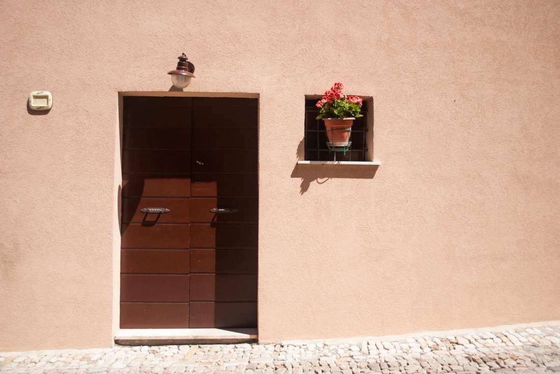 Minimal Doorway in Montefalco Italy