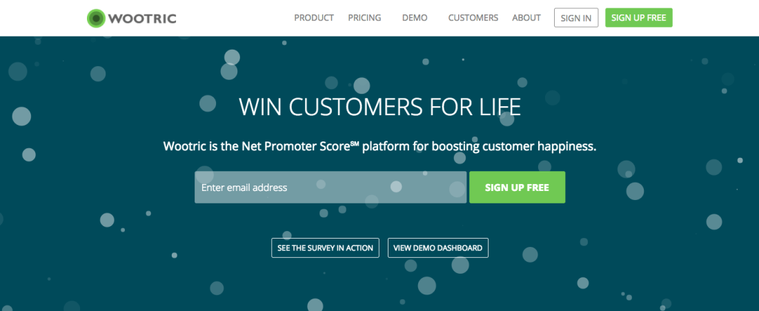Wootric Net Promoter Score Software