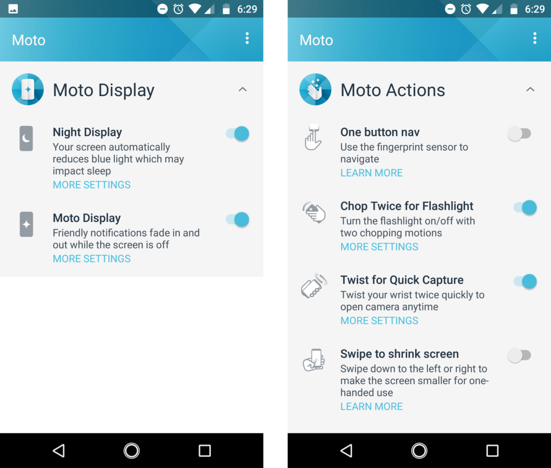 Moto Actions for the Moto G5s Plus