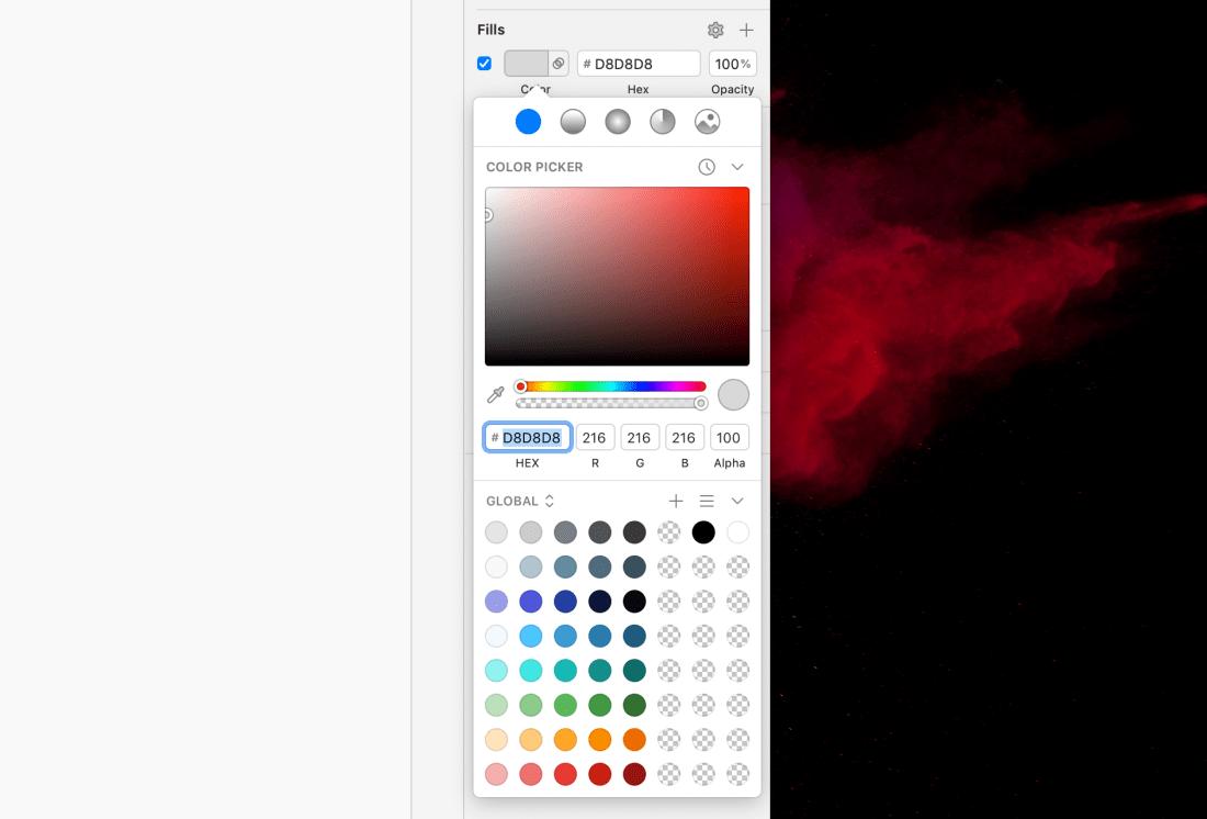 Sketch Color Palette Organized