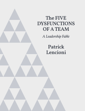 The Five Dysfunctions of a Team Book Cover