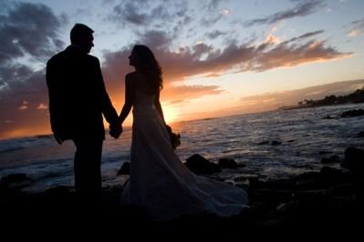 coupleholding hands on beach