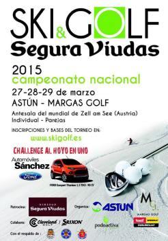 Cartel de Esqui y Golf 2015