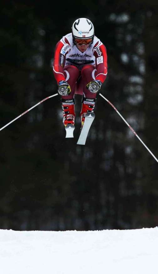 GARMISCH-PARTENKIRCHEN,GERMANY,28.JAN.16 - ALPINE SKIING - FIS World Cup, downhill training, men. Image shows Aleksander Aamodt Kilde (NOR). Photo: GEPA pictures/ Thomas Bachun