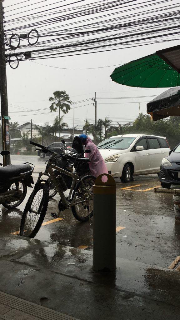 Warten bis der Regen aufhört