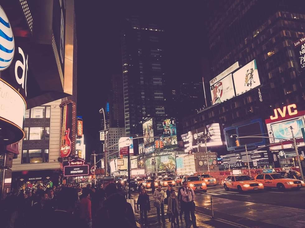 New York City Nachtszene