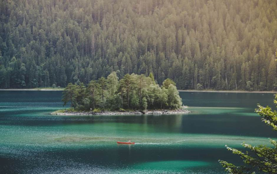 Eibsee Kanu Insel