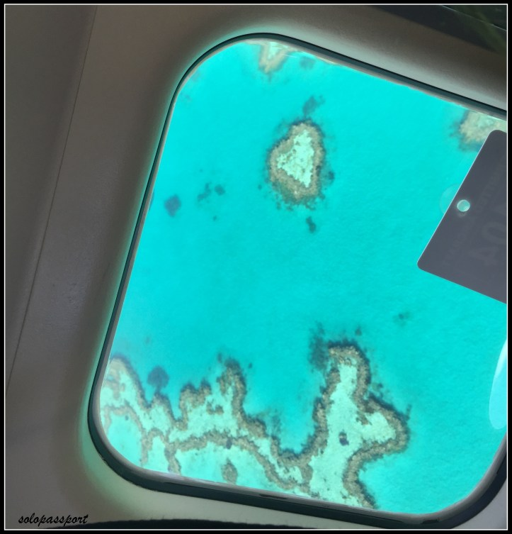 Heart Reef seen from a seaplane