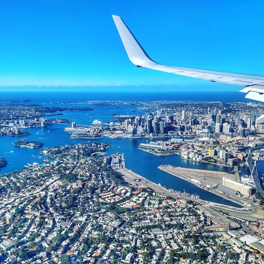 Sydney bird eye view