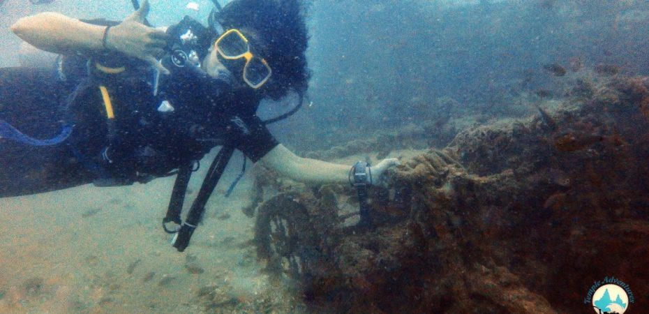Divers at Temple Reef   Pondicherry