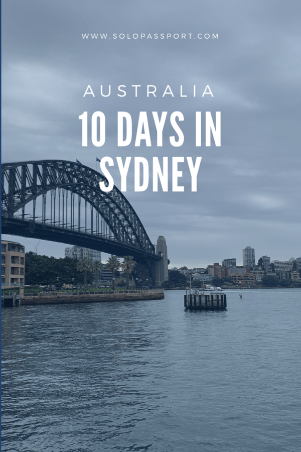 10 days in Sydney