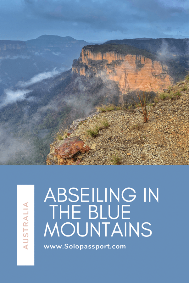PIN for later reference - Abseiling in Blue Mountains