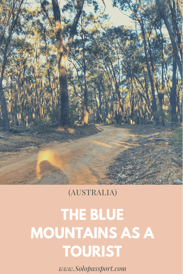 PIN for later reference - The Blue Mountains as a tourist