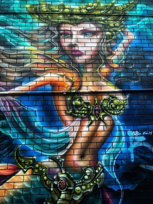Street art at Byron Bay