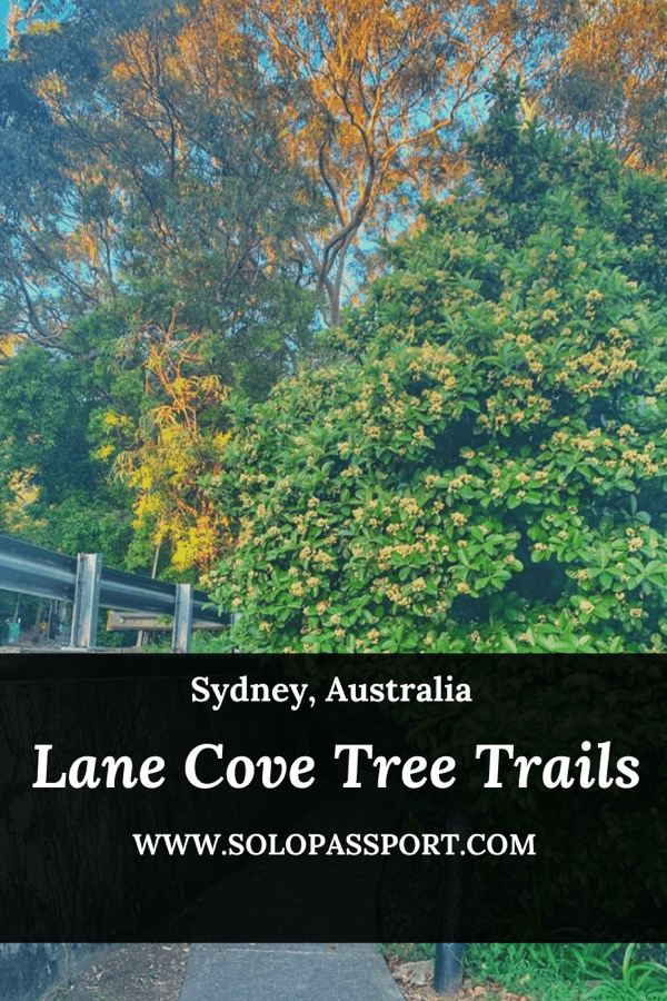 PIN for later reference - Lane Cove Tree Trails