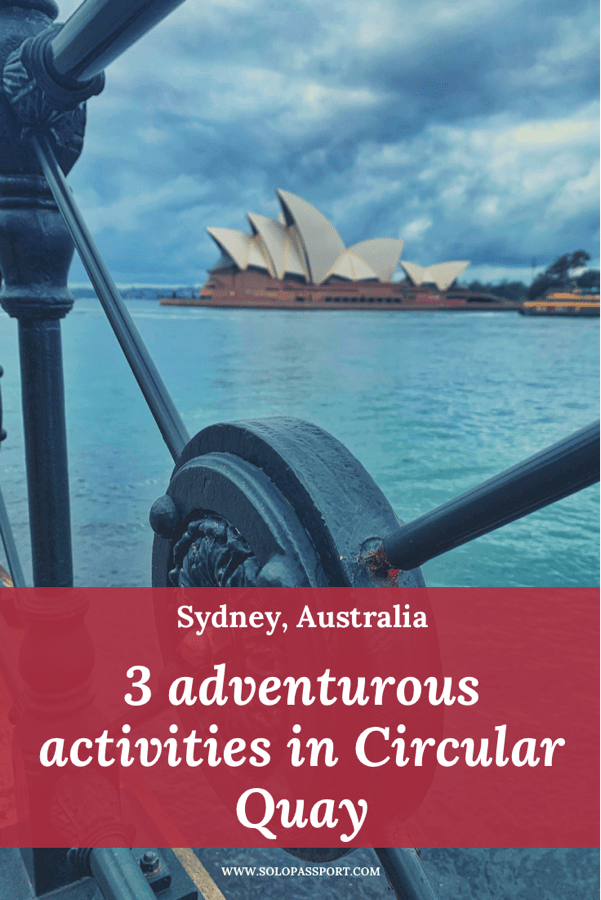PIN for later reference - 3 adventurous activities to do in Circular Quay
