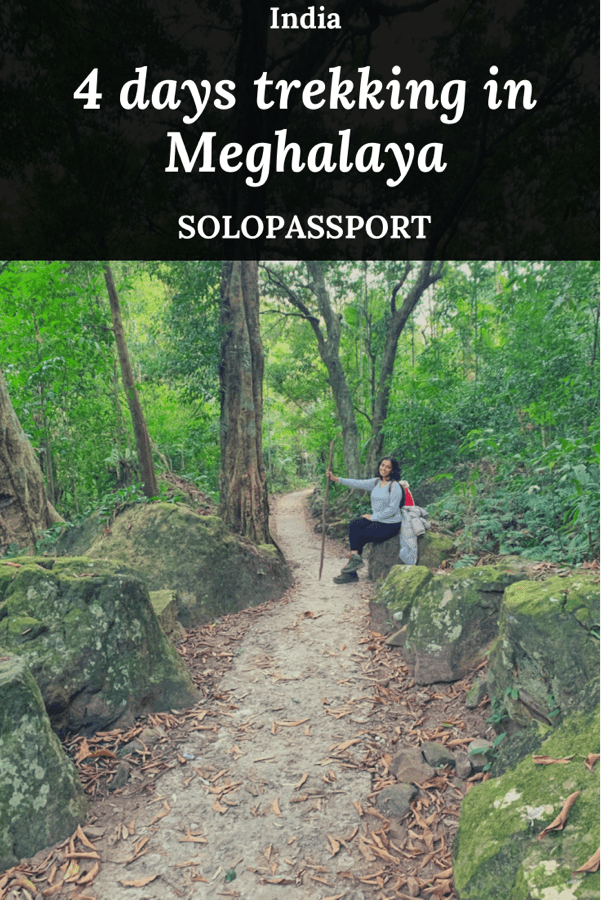 PIN for later reference - 4 days trekking in Meghalaya