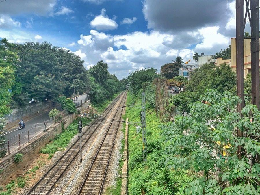 Railway track, Bangalore