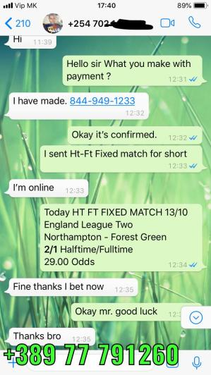 HALFTIME HT FT FIXED MATCHES