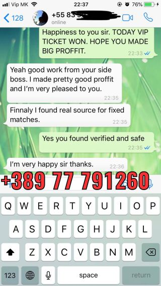 VERIFIED SELLER OF FIXED MATCHES