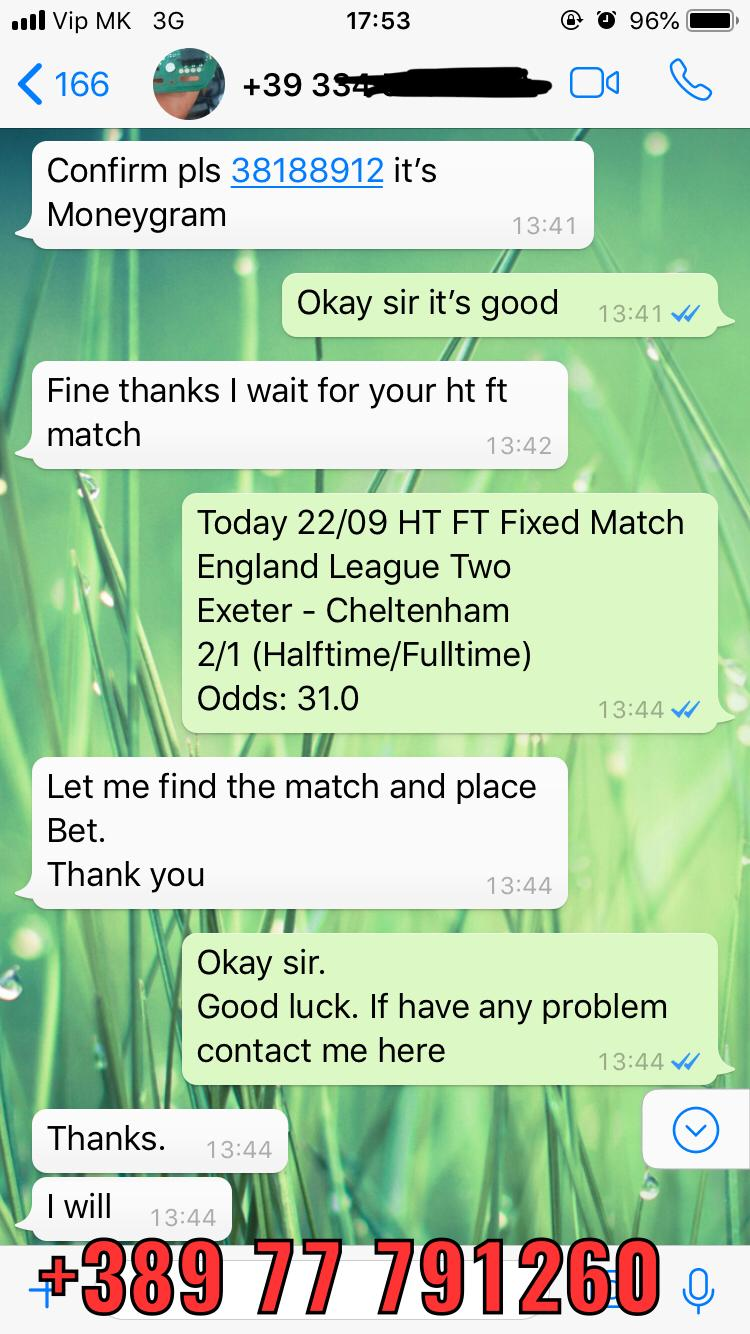 buy fixed matches 1x2