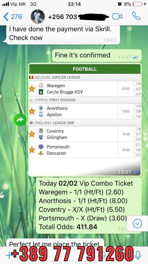 solobet fixed matches combo ticket 400 odd win