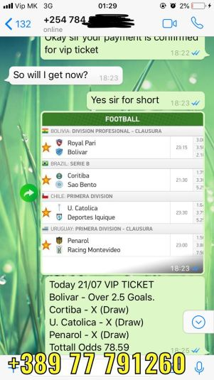 solopredict vip ticket 21 07 fixed match won