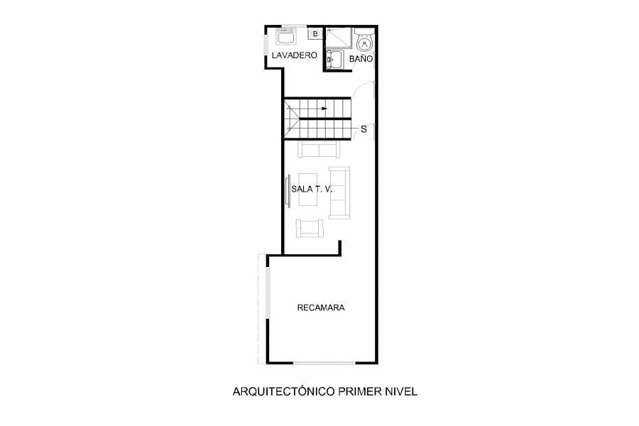 Plano arquitectónico Segundo piso