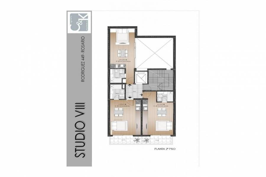 Rosario,Santa Fe,1 Dormitorio Habitaciones,1 BañoBaños,Departamentos,Studio VIII,Rodriguez,1580