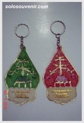 Souvenir Pernikahan Gantungan Kunci kulit gunungan warna
