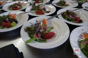 Salat mit Empanadas