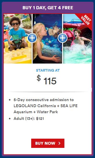 legoland california promotion Legoland California ticket prices May 2017 buy 1 get 4 free