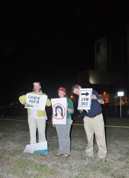 Message to STS-134: No U Turn, Kennedy Space Center, May 16, 2011