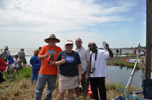 Me with Three New Friends I Met and Shared the Historic Day of Watching the Final Space Shuttle Launch, Titusville, Fla., July 8, 2011