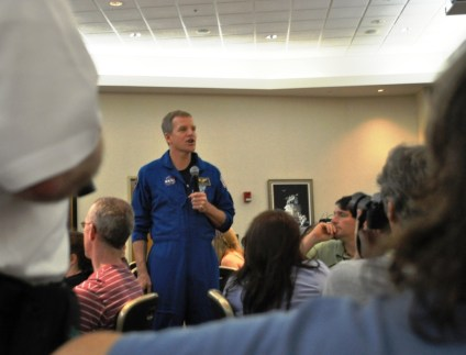 Lunch with Space Shuttle Astronaut Scott Parazynski, Kennedy Space Center, Florida